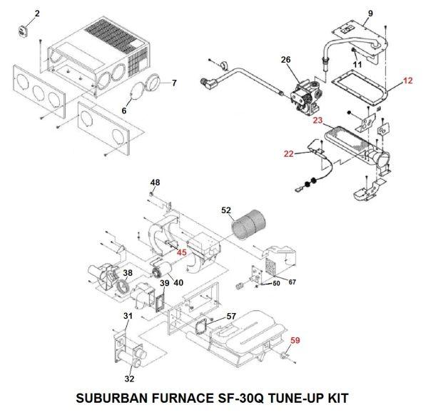 Suburban Furnace Model SF-30Q Tune-Up Kit