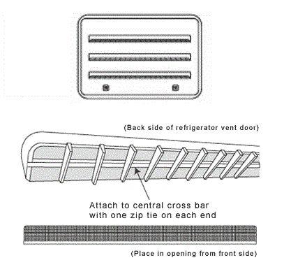 JCJ R-600A Mud Dauber Screen for RV Refrigerator