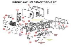 Atwood / HydroFlame Furnace Model 1522 2 STAGE Tune-Up Kit