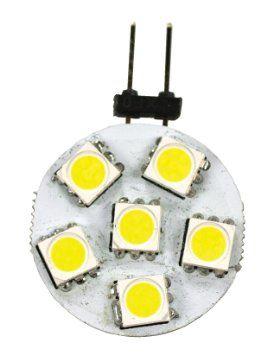 G4 Base 6 LED Bulb, Side Pin, 70 Lumens, Bright White, 50552