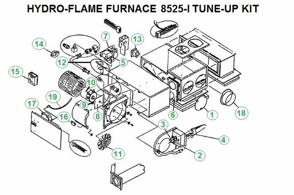 Atwood / HydroFlame Furnace Model 8525-I Tune-Up Kit