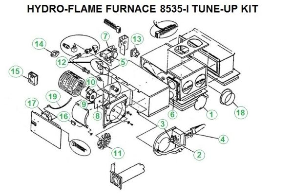 Atwood / HydroFlame Furnace Model 8535-I Tune-Up Kit