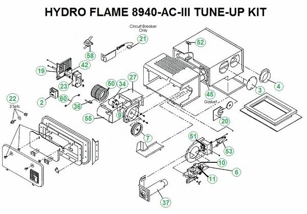 Atwood / HydroFlame Furnace Model 8940-AC-III Tune-Up Kit