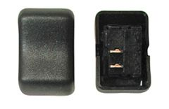 Contour Rocker Switch, SPST, Black, Mom (On) / Off