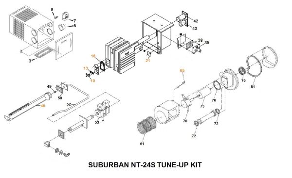 Suburban Furnace Model NT-24S Tune-Up Kit