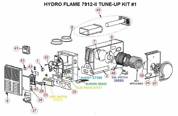Atwood / HydroFlame Furnace Model 7912-II Tune-Up Kit