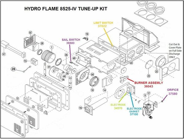 Atwood / HydroFlame Furnace Model 8525-IV Tune-Up Kit on sincgars radio configurations diagrams, series and parallel circuits diagrams, pinout diagrams, internet of things diagrams, switch diagrams, troubleshooting diagrams, electronic circuit diagrams, honda motorcycle repair diagrams, lighting diagrams, gmc fuse box diagrams, battery diagrams, smart car diagrams, led circuit diagrams, engine diagrams, transformer diagrams, hvac diagrams, electrical diagrams, friendship bracelet diagrams, motor diagrams,