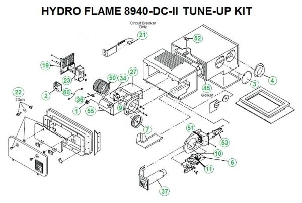 Atwood / HydroFlame Furnace Model 8940-DC-II Tune-Up Kit