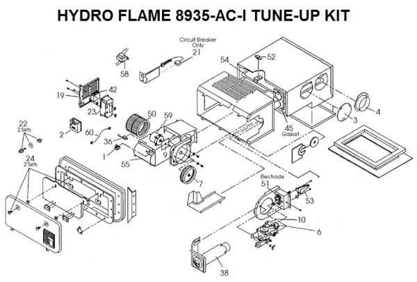 Atwood / HydroFlame Furnace Model 8935-AC-I Tune-Up Kit