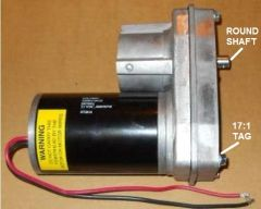 Barker Slide Out Power Head Drive Assembly, 17:1 Version, 22840