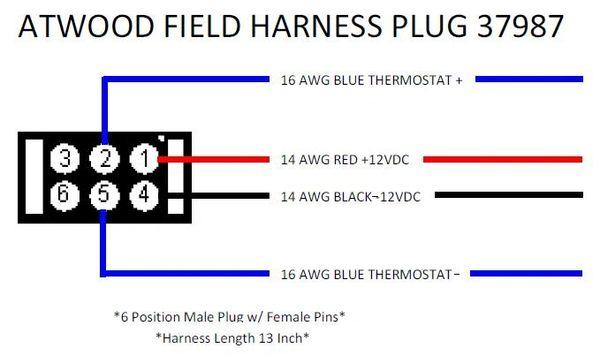 Atwood / HydroFlame Furnace Wiring Field Plug 37987