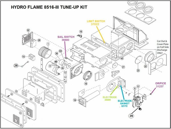 Atwood / HydroFlame Furnace Model 8516-III Tune-Up Kit