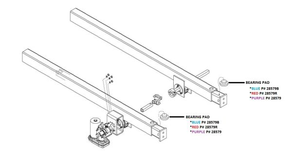 Barker Slide Out Bearing Pad 28579