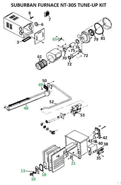 Suburban Furnace Model NT-30S Tune-Up Kit