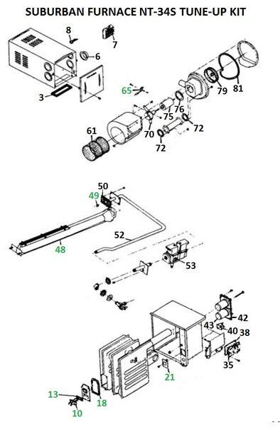 Suburban Furnace Model NT-34S Tune-Up Kit