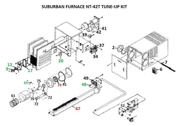 Suburban Furnace Model NT-42T Tune-Up Kit