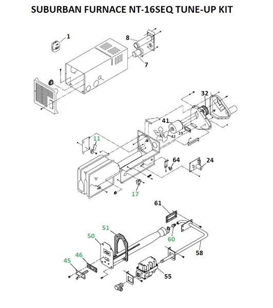 Suburban Furnace Model NT-16SEQ Tune-Up Kit
