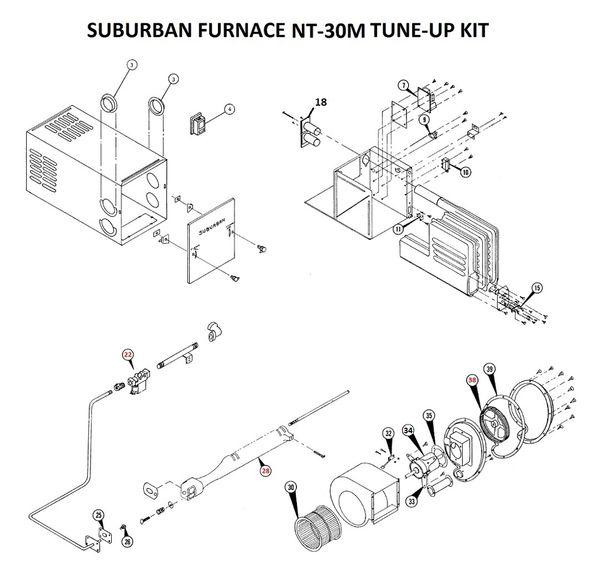 Suburban Furnace Model NT-30M Tune-Up Kit