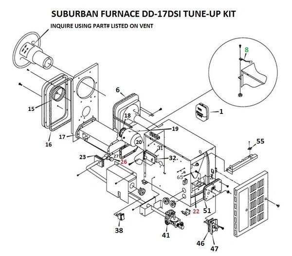 Suburban Furnace Model DD-17DSI Tune-Up Kit