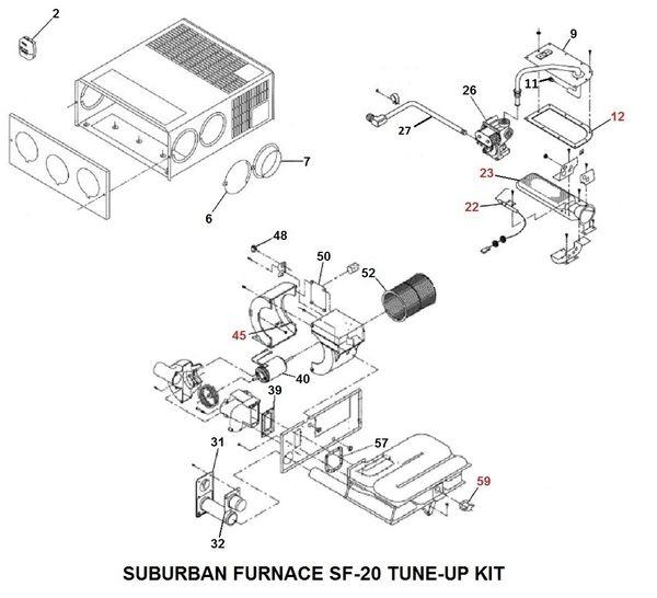 Suburban Furnace Model SF-20 Tune-Up Kit