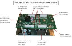 Battery Control Center, by RV Custom Products, PCB# 01033-10, P# 111979