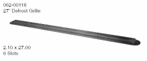 27 Inch Dash Defrost Grill / Vent 062-00118