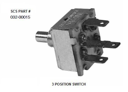 INDAK 3 Position Blower Switch 032-00015