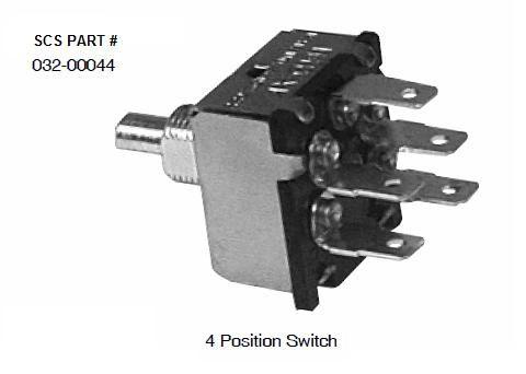 INDAK 4 Position Blower Switch 032-00044