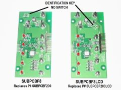 KIB Electronics Replacement Board Assembly, F8 Series, SUBPCBF8