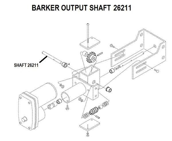 Barker Slide Out Output Shaft 26211