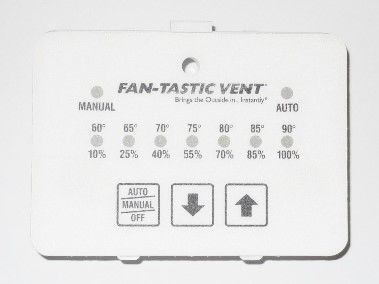 Fan-Tastic Vent Thermostat White Membrane