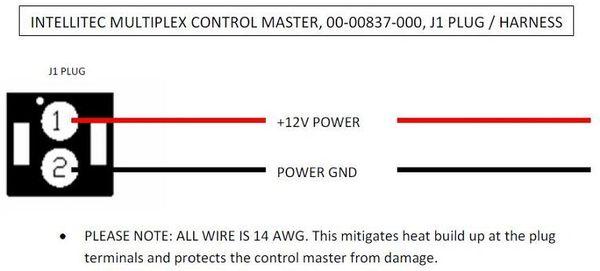 Intellitec Multiplex Control Master J1 Plug / Harness