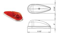 Incandescent Marker Light, Red, 1A-S-64RC