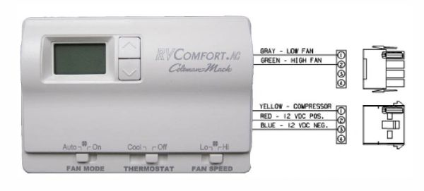 Coleman Thermostat, Digital, Cool Only 8330-339