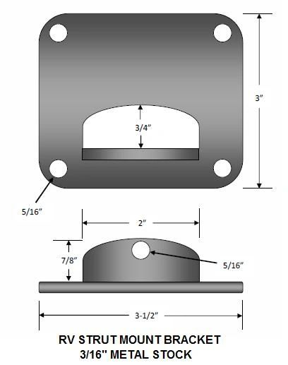 Bay Door Strut Bracket 17095D