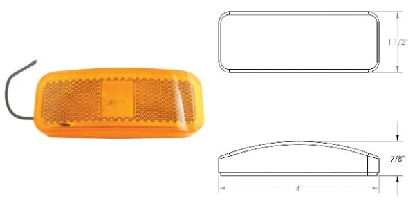 Incandescent Marker Light, Amber, 1A-S-1300A
