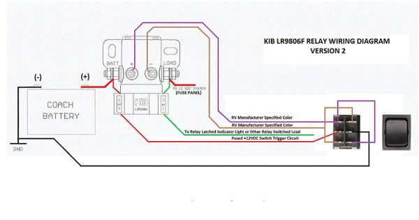 kib electronics battery disconnect latching relay lr9806f