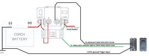 kib electronics battery disconnect latching relay lr9806f