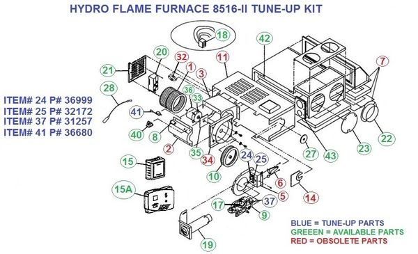 Atwood / HydroFlame Furnace Model 8516-II Tune-Up Kit