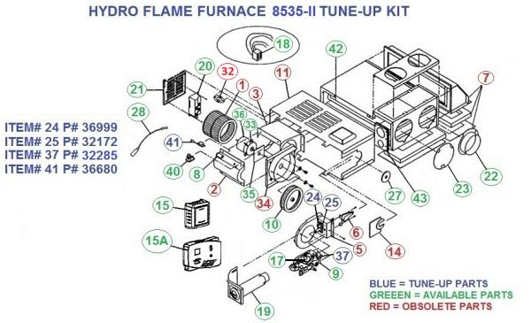 Atwood / HydroFlame Furnace Model 8535-II Tune-Up Kit