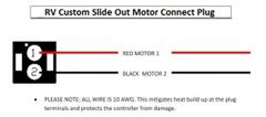 RV Custom Slide Out Controller Motor Plug