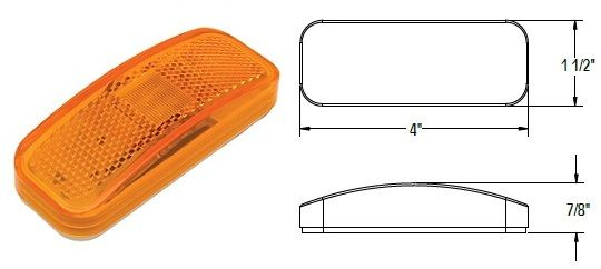 LED Marker Light, Amber 6 Diode, L14-0061A