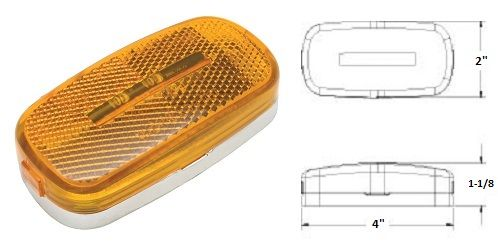 LED Marker Light, Amber 9 Diode, L14-0054
