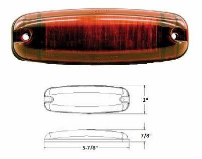 LED Marker Light, Red 12 Diode L14-0026R