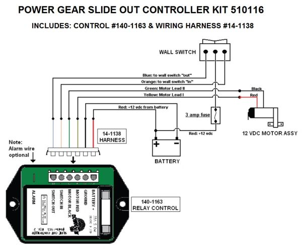 Power Gear Slide Out Controller Kit, Upgraded Version, 510116 on