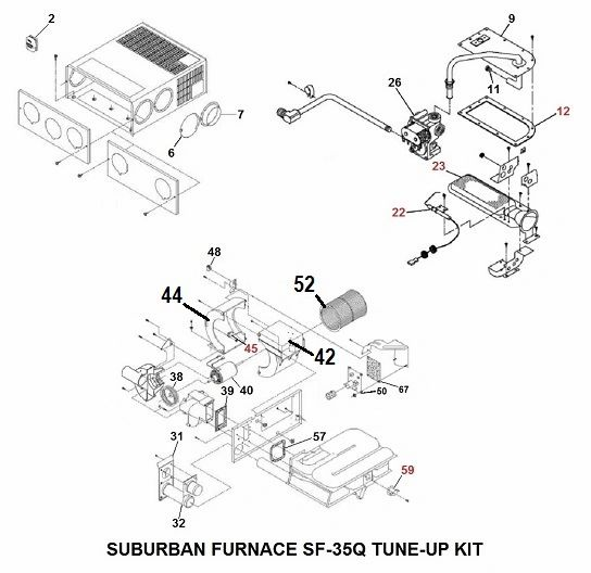 Suburban Furnace Model SF-35Q Tune-Up Kit