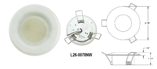 3 Inch 15 LED Overhead Light L26-0078NW