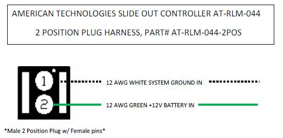 American Technologies Slide Out Controller 2 Position Harness / Plug