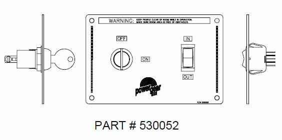 Power Gear Slide Room Switch 530052