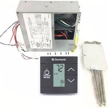 Dometic LCD Touch Thermostat With Control Kit, Cool/Furnace/Heat Strip, 3316232.010